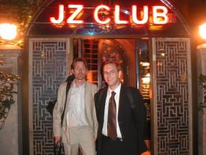 Mårten & Jesper Løvdal outside JZ Jazzclub, Shanghai, China