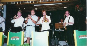 "With Ronnie Gardiner at ""Gröna Lund"" in Stockholm. With Johan Setterlind on trumpet"